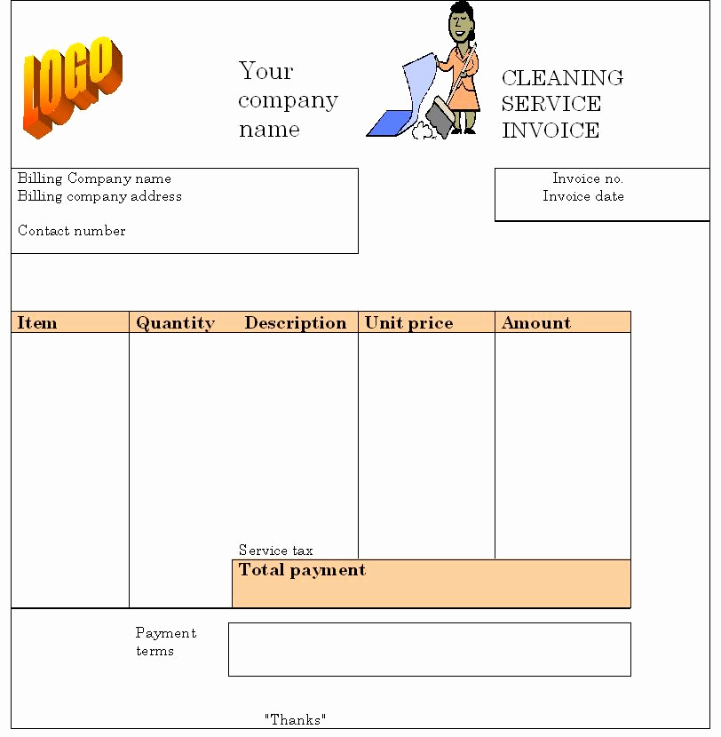 Free Cleaning Invoice Template Beautiful House Cleaning Free House Cleaning Invoice forms