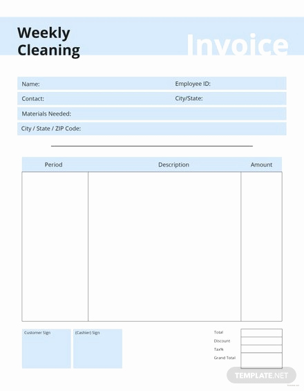 Free Cleaning Invoice Template Inspirational Free Mercial Shipping Invoice Template Download 78