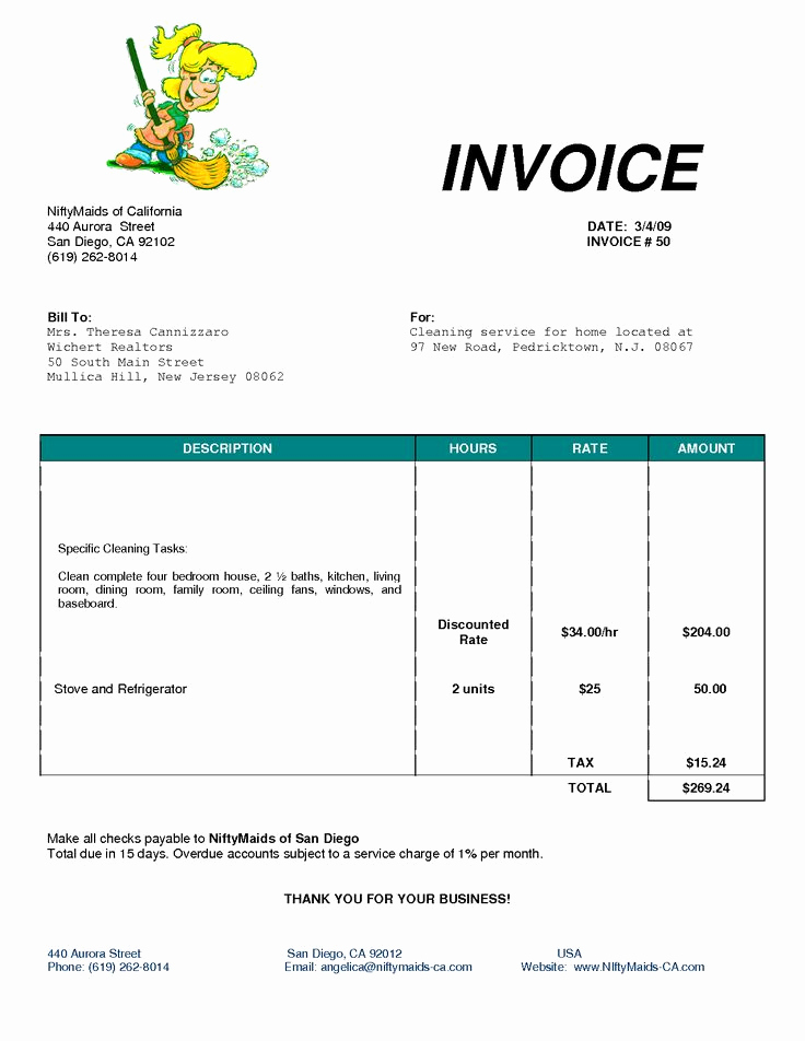 Free Cleaning Invoice Template Luxury Cleaning Bill Invoice Services Invoice