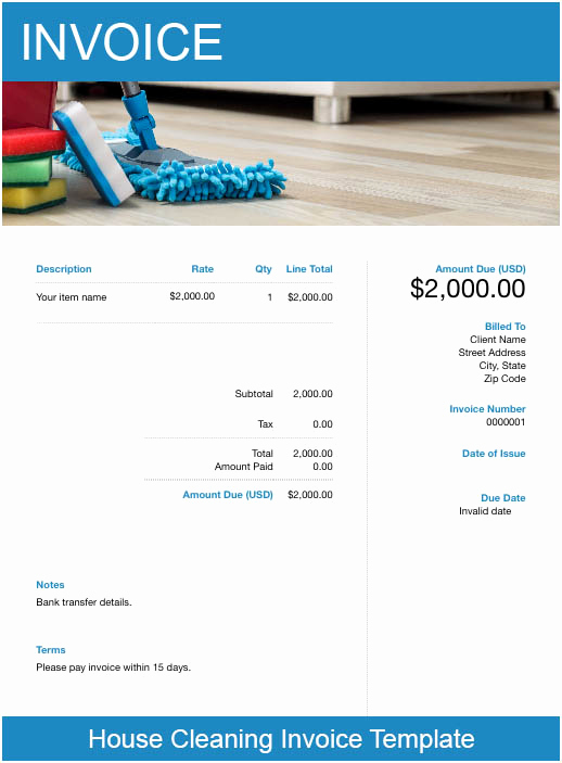 Free Cleaning Invoice Template Luxury Free Cleaning Service Invoice Template – Try Free Invoice