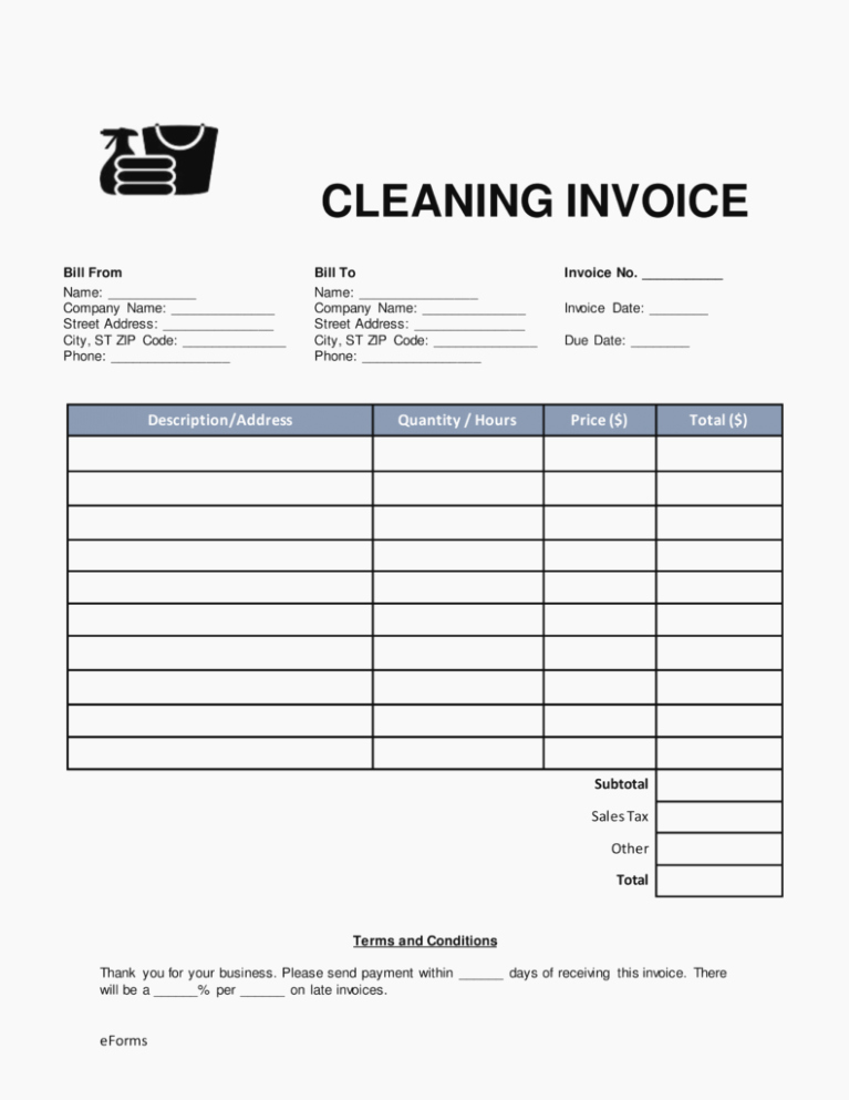 Free Cleaning Invoice Template New What I Wish Everyone Knew