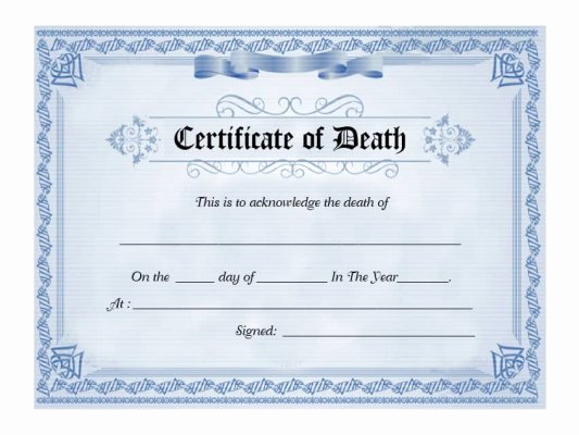 Free Death Certificate Template Best Of 30 Free Certificate Of Appreciation Templates and Letters