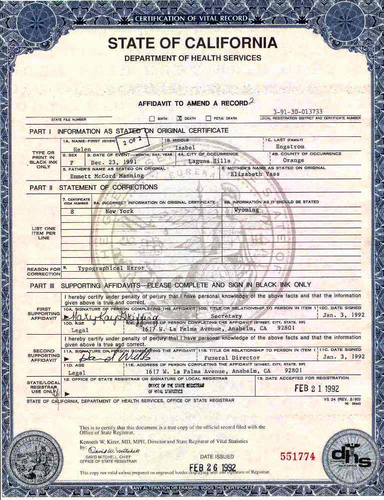 Free Death Certificate Template Best Of Vital Records and Other Important Documents In the Life Of