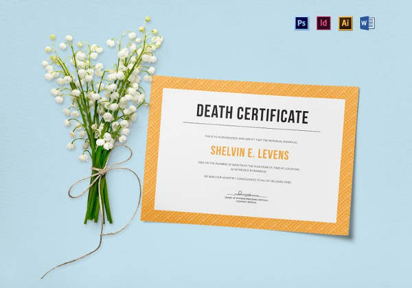 Free Death Certificate Template Inspirational 13 Sample Death Certificate Templates Pdf Doc