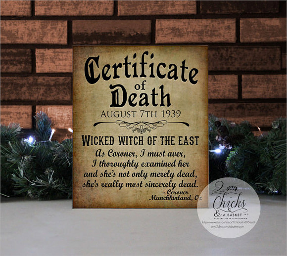 Free Death Certificate Template New 9 Useful Sample Death Certificate Templates In Pdf