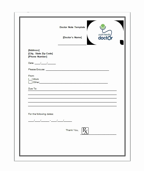 Free Doctor Note Template Awesome 25 Free Doctor Note Excuse Templates Templatelab