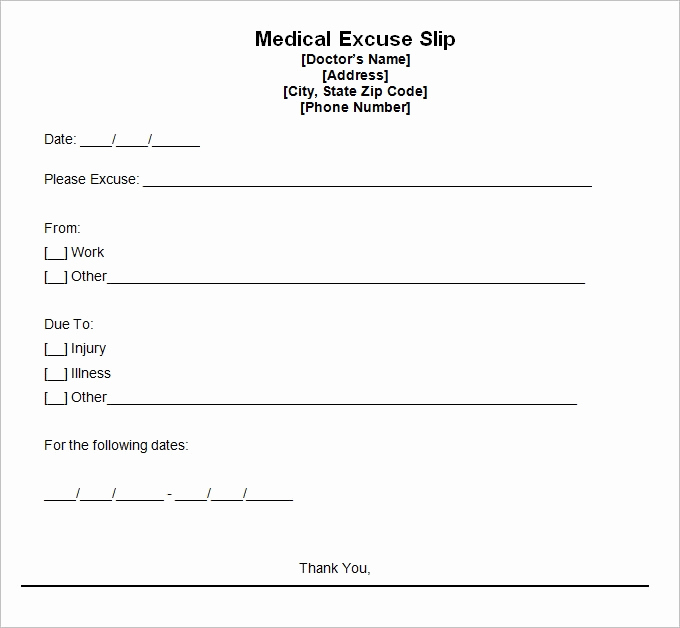 Free Doctor Note Template Luxury Doctors Excuse Template