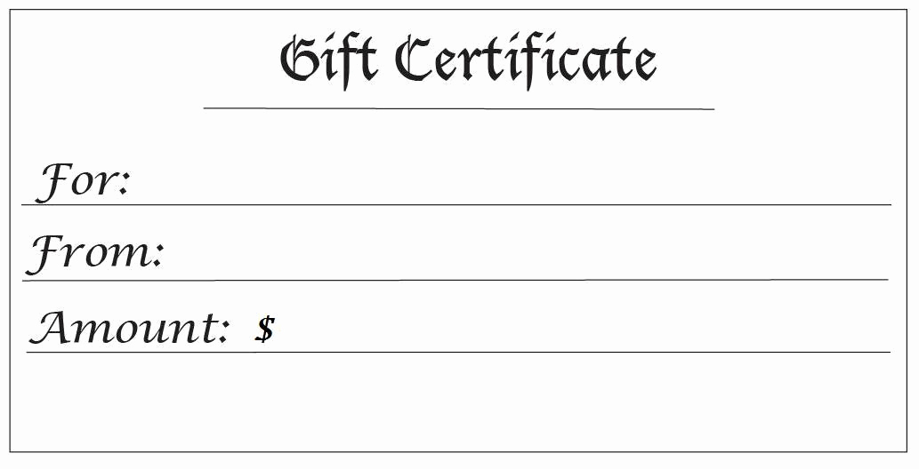Free Downloadable Gift Certificate Template Best Of 28 Cool Printable Gift Certificates