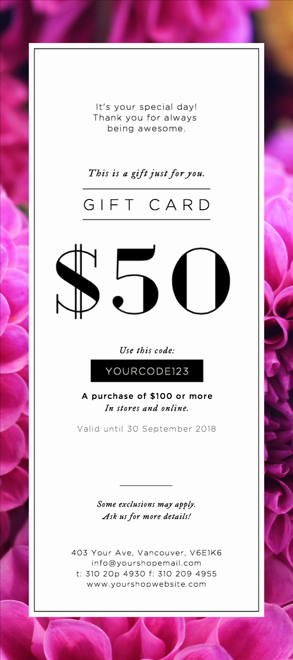 Free Downloadable Gift Certificate Template Best Of Free Gift Certificates Templates Design Your Gift