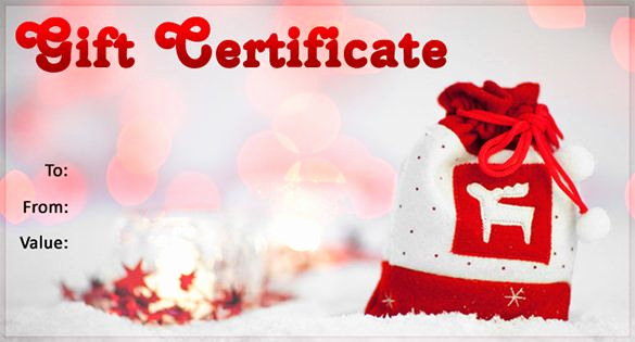 Free Downloadable Gift Certificate Template Luxury Christmas Gift Certificate Template 11 Word Pdf