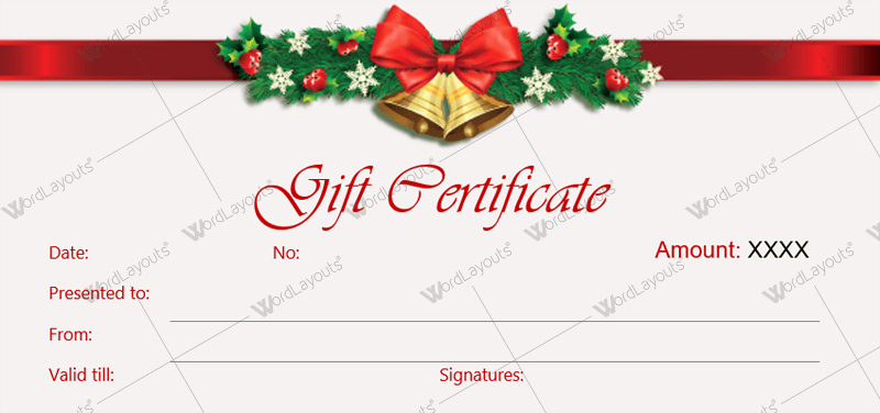 Free Downloadable Gift Certificate Template New Christmas Gift Certificate Templates for Word Editable