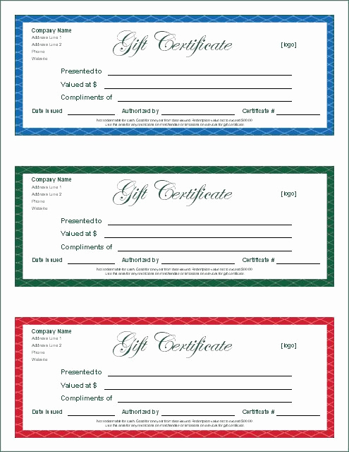 Free Downloadable Gift Certificate Template Unique Gift Certificate Template Google Docs