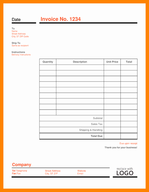 Free Editable Invoice Template Inspirational 10 Editable Invoice Template