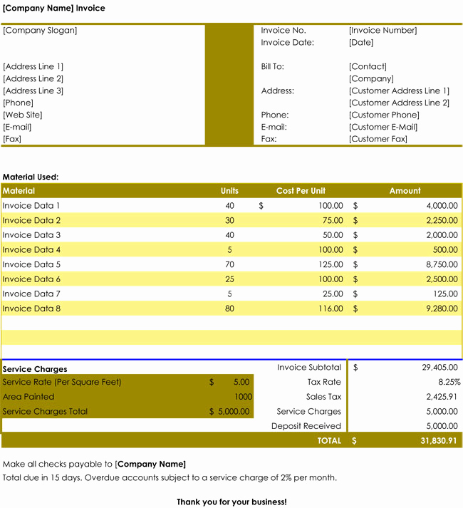 Free Editable Invoice Template New 32 Free Invoice Templates Editable with Excel and Word