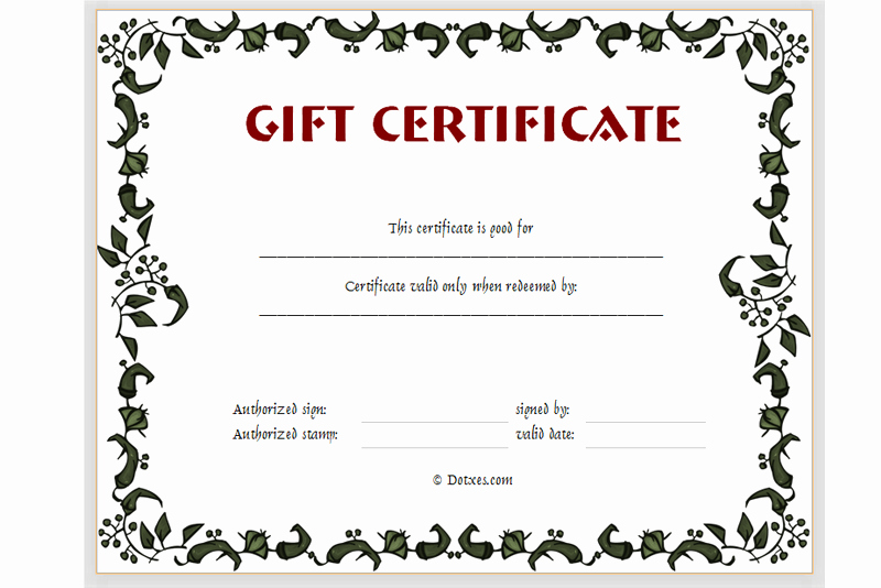 Free Gift Certificate Template Printable Best Of Free Printable Gift Certificate Templates Certificate