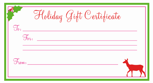 Free Gift Certificate Template Printable Elegant 28 Cool Printable Gift Certificates