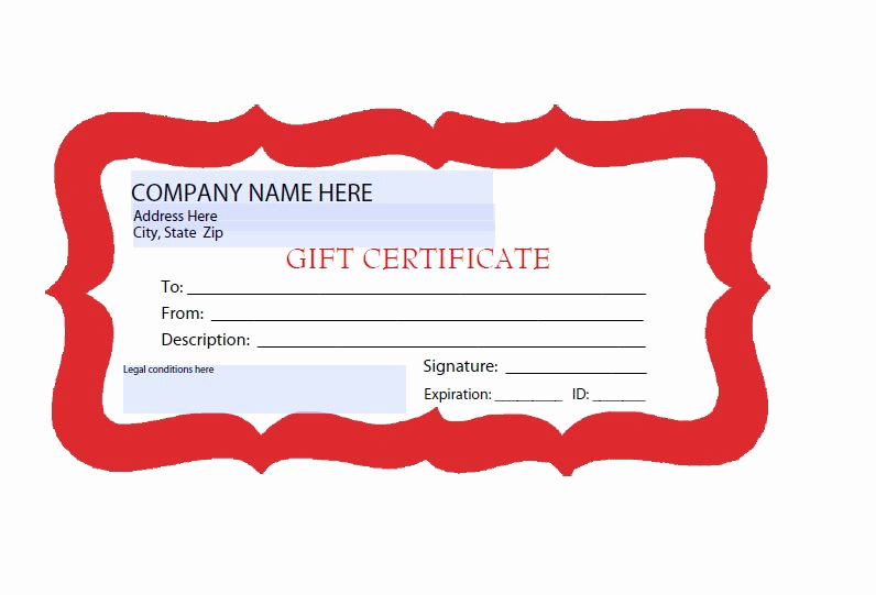 Free Gift Certificate Template Printable Elegant 31 Free Gift Certificate Templates Template Lab