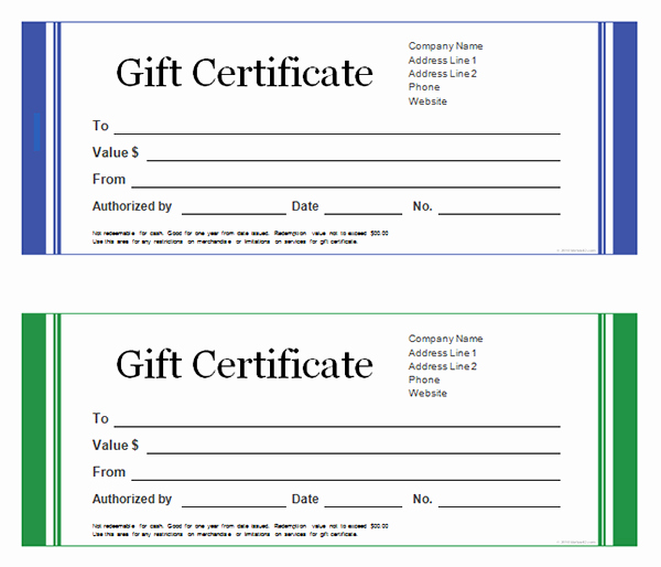 Free Gift Certificate Template Printable Elegant Printable Gift Certificate Templates