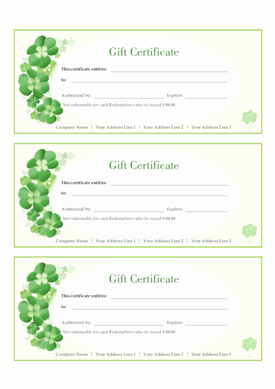 Free Gift Certificate Template Printable Fresh Certificate Templates Best S Of Gift Certificate