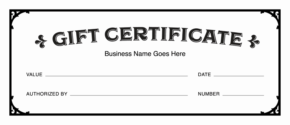 Free Gift Certificate Template Printable Lovely Gift Certificate Templates Download Free Gift