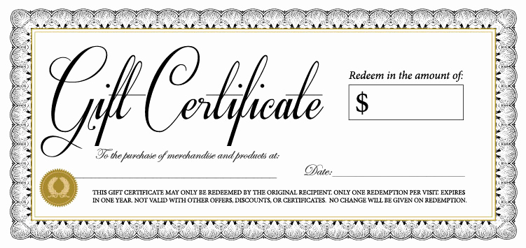 Free Gift Certificate Template Printable New 18 Gift Certificate Templates Excel Pdf formats