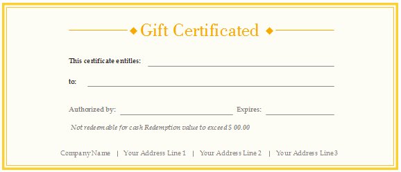 Free Gift Certificate Template Printable New Free Gift Certificate Templates Customizable and Printable