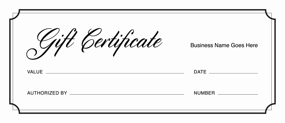 Free Gift Certificate Template Printable Unique Gift Certificate Templates Download Free Gift