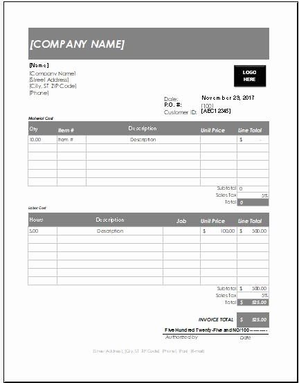 Free Handyman Invoice Template Awesome Handyman Invoice Template Excel format