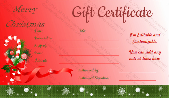 Free Holiday Gift Certificate Template Beautiful 28 Holiday Gift Certificate Templates Psd Word Ai