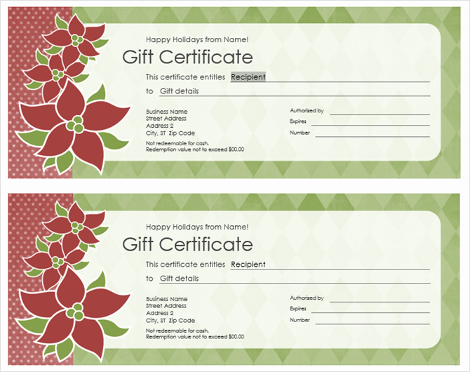 Free Holiday Gift Certificate Template Beautiful Get A Free Gift Certificate Template for Microsoft Fice