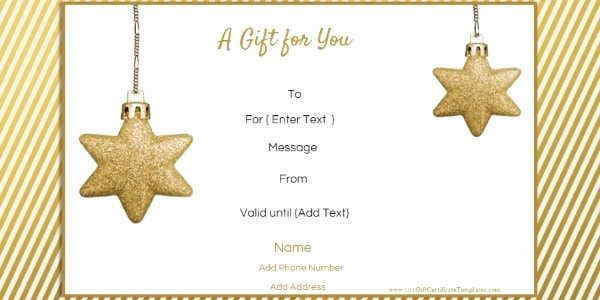 Free Holiday Gift Certificate Template Best Of Free Editable Christmas Gift Certificate Template