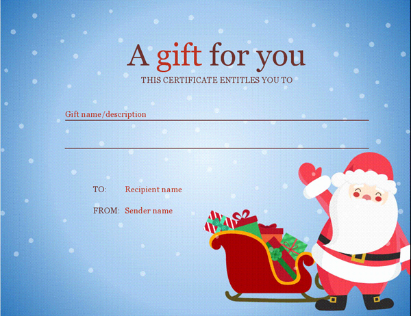 Free Holiday Gift Certificate Template Inspirational Christmas T Certificate Christmas Spirit Design