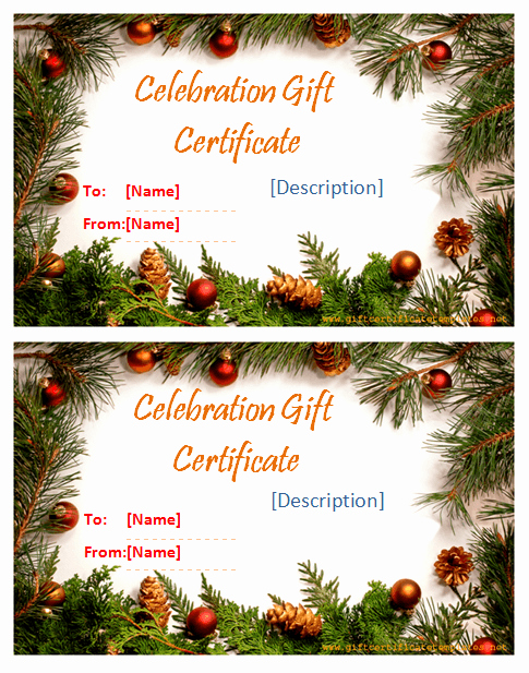 Free Holiday Gift Certificate Template Lovely Holiday Templates Gift Certificate Templates