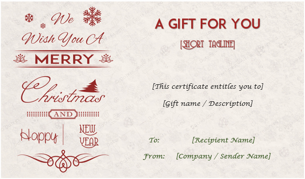 Free Holiday Gift Certificate Template Luxury Christmas Gift Certificate Templates Editable and