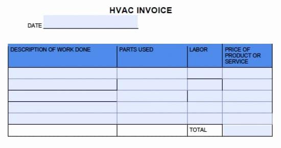 Free Hvac Invoice Template Elegant Free Hvac Invoice Template Excel Pdf