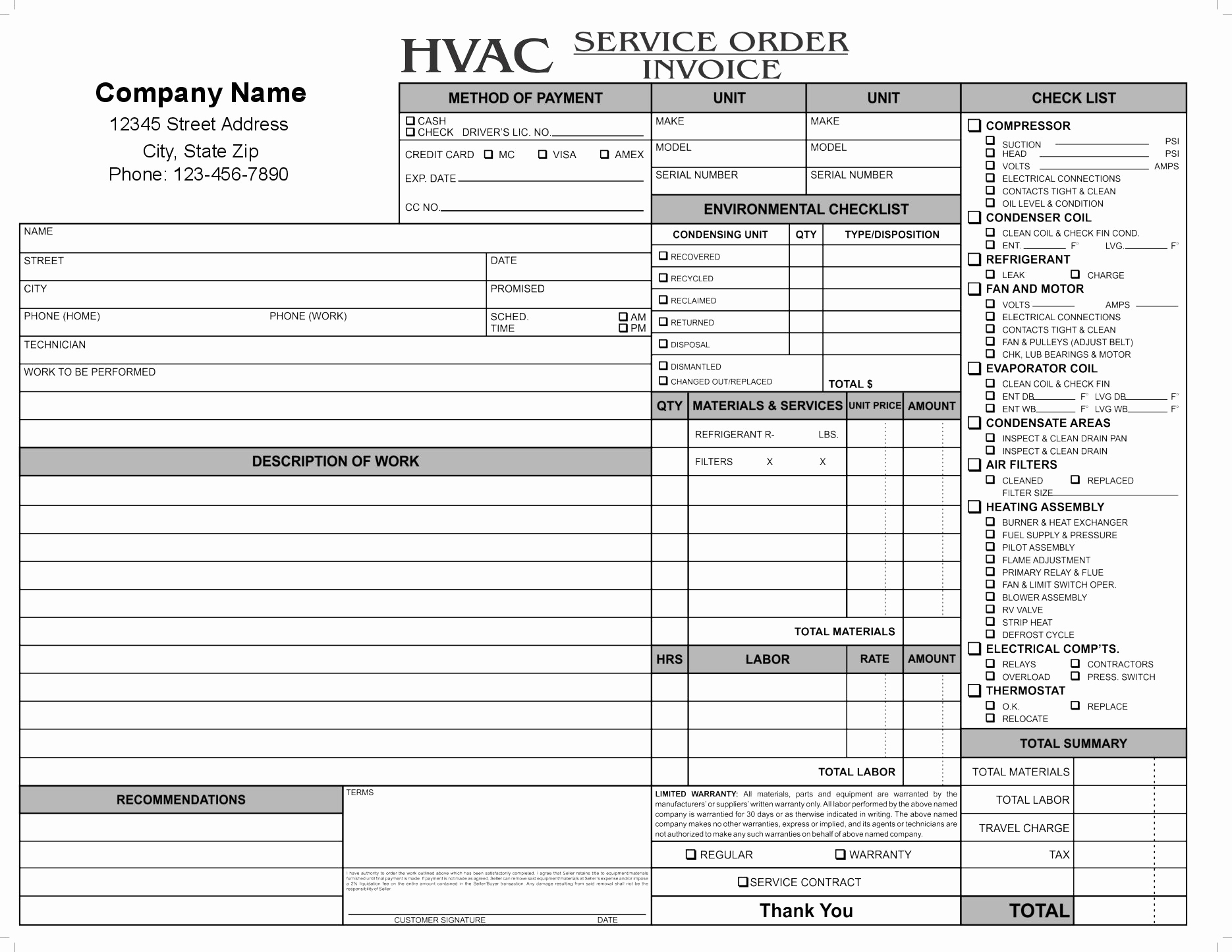 Free Hvac Invoice Template Unique 11 Hvac Invoice Template Free top Invoice Templates Hvac