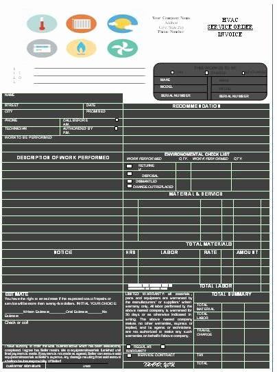 Free Hvac Invoice Template Unique Hvac Invoice Templates Printable Free