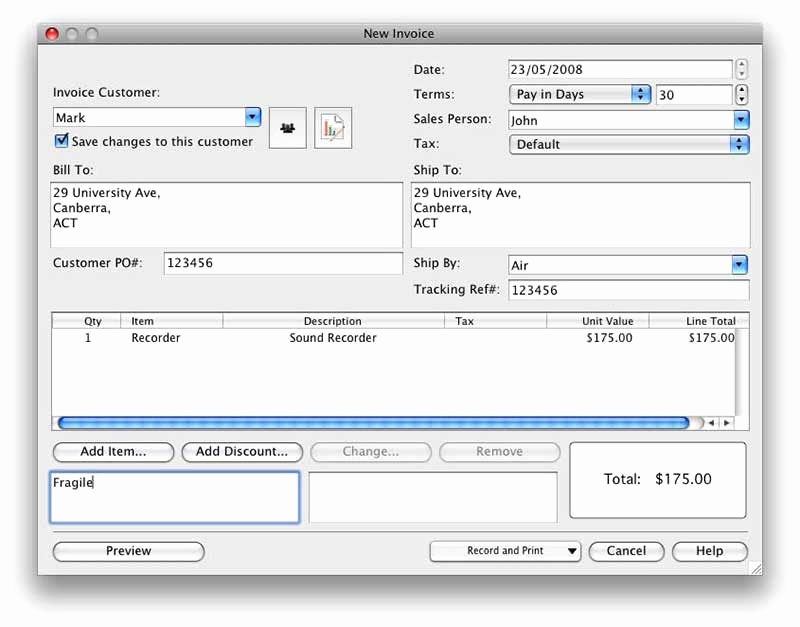 Free Invoice Template for Mac Beautiful Free Invoice software for Mac