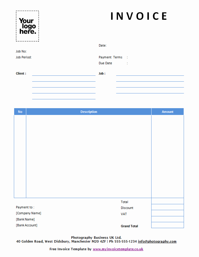 Free Invoice Template for Mac Elegant Free Invoice Template Uk Mac