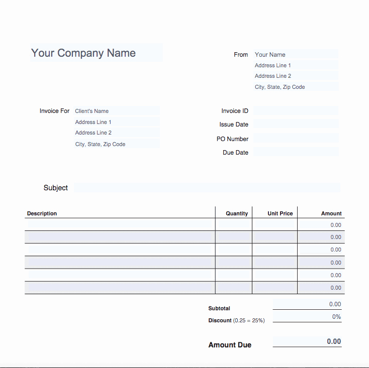 Free Invoice Template for Mac Lovely Free Online Invoice Templates for Mac — Excelxo