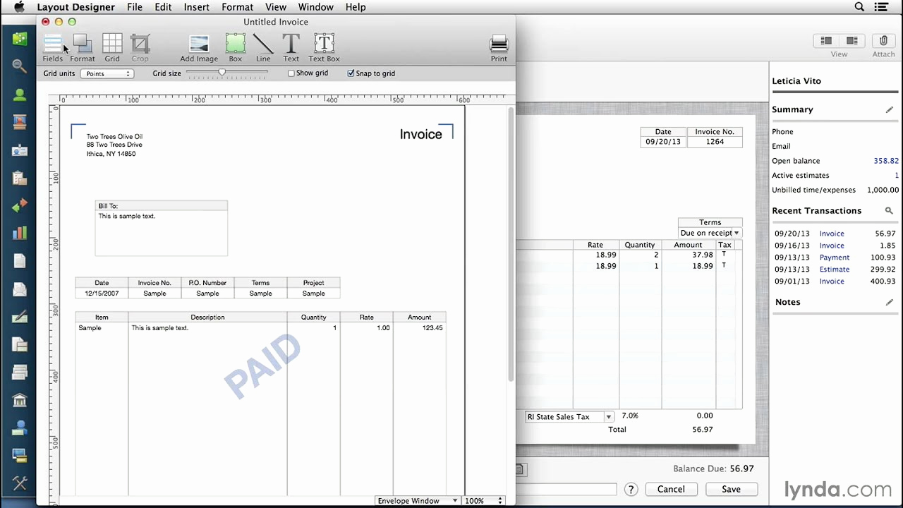 Free Invoice Template for Mac New Quickbooks for Mac Tutorial Customizing Invoices and