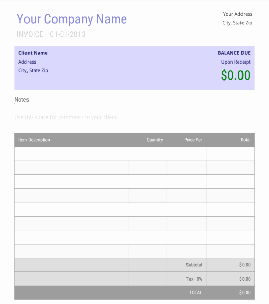 Free Invoice Template Google Docs Elegant 15 Free Google Docs Invoice Templates