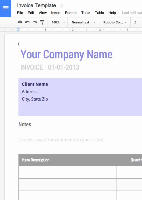 Free Invoice Template Google Docs Lovely Blank Invoice Template Free for Google Docs