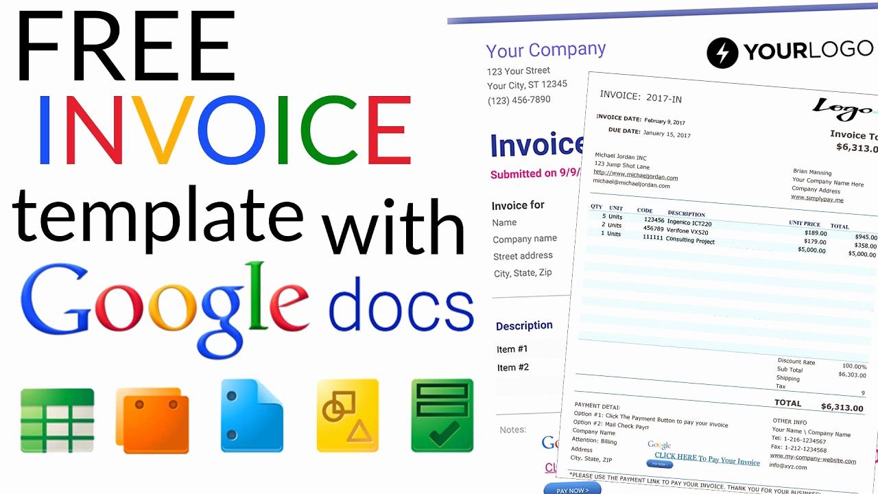 Free Invoice Template Google Docs Unique Free Invoice Template How to Create An Invoice Using