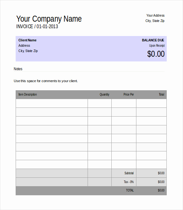 Free Invoice Template Microsoft Word Elegant 48 Blank Invoice Templates Ai Psd Google Docs Apple