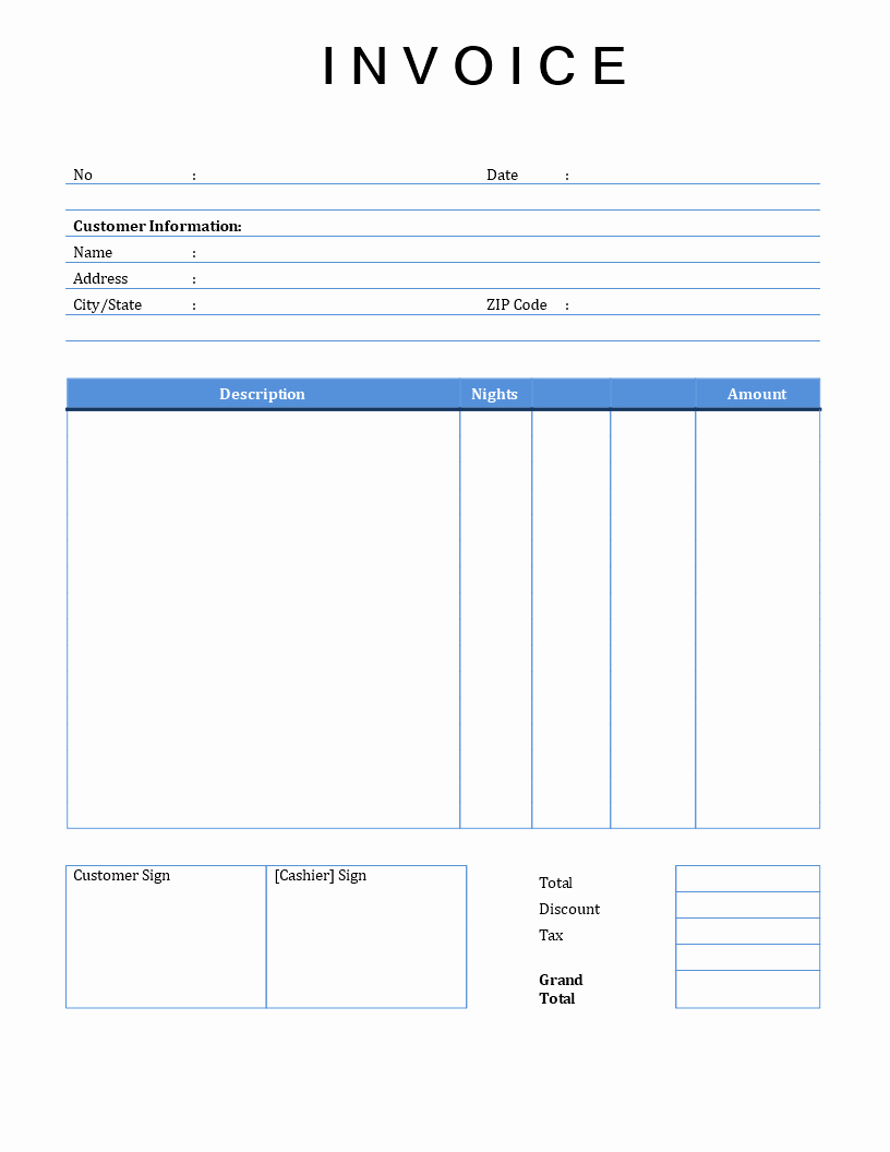 Free Invoice Template Microsoft Word Inspirational Rental Invoice Template Word