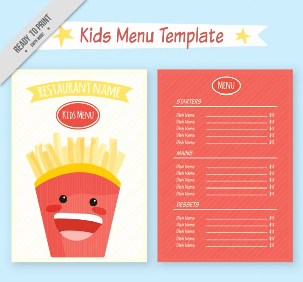 Free Kid Menu Template Best Of Kids Menu Template 27 Free & Premium Download