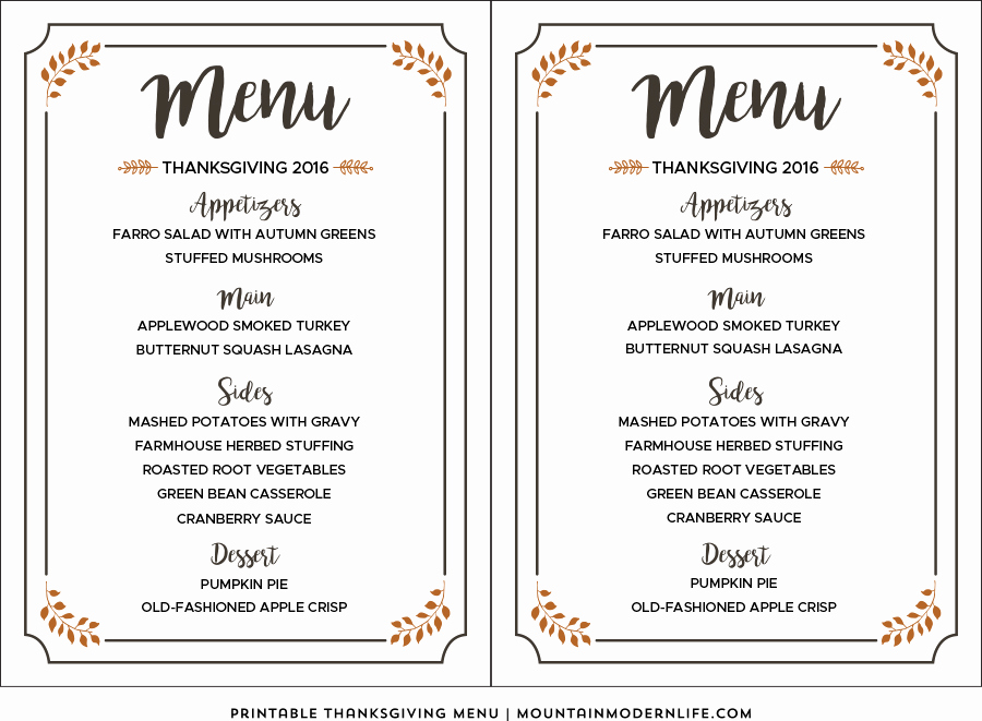 Free Kid Menu Template Lovely 35 Awesome Thanksgiving Menu Templates Template Lab