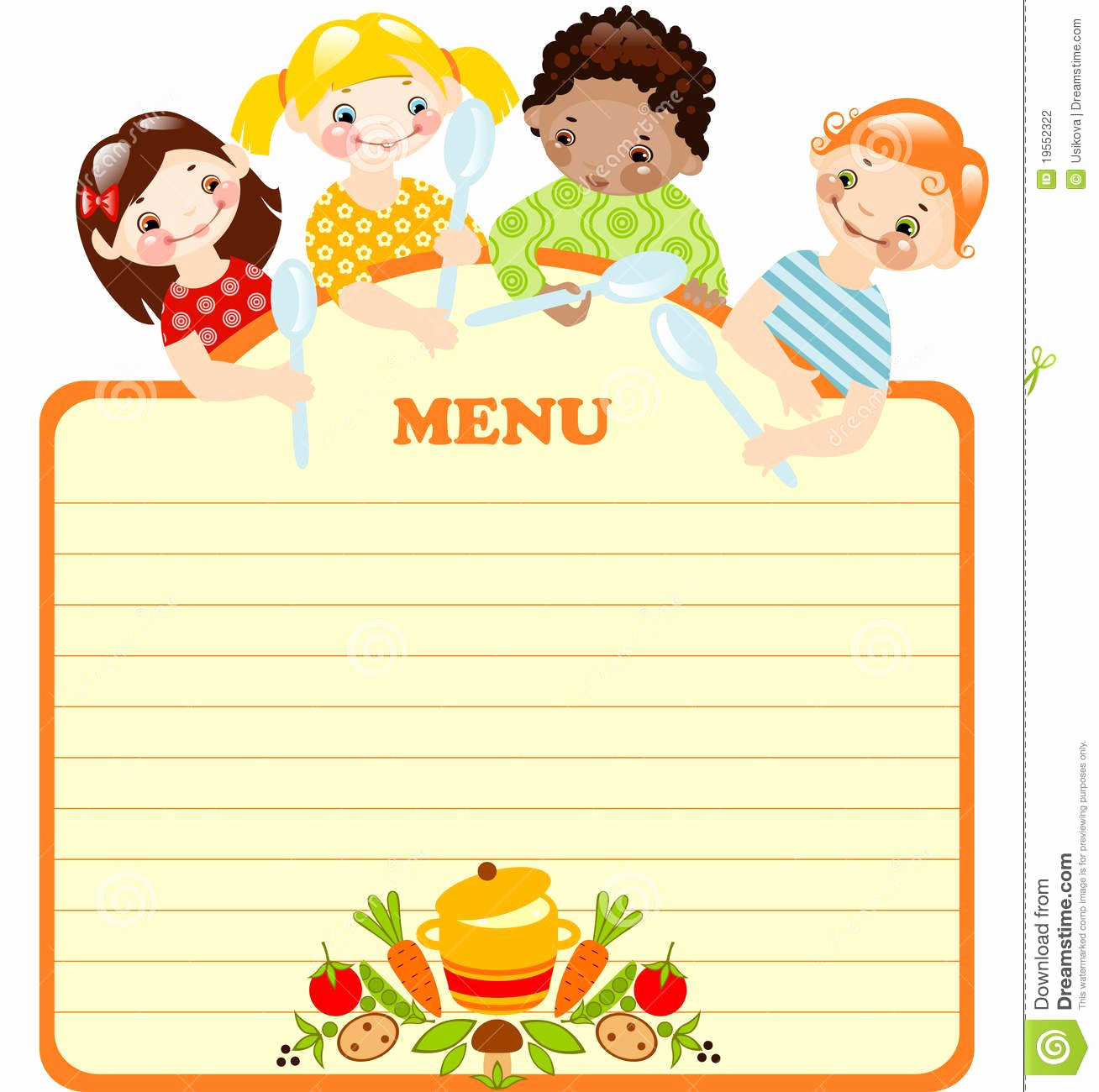 Free Kid Menu Template Lovely Blank Kids Menu Template Invitation Templates