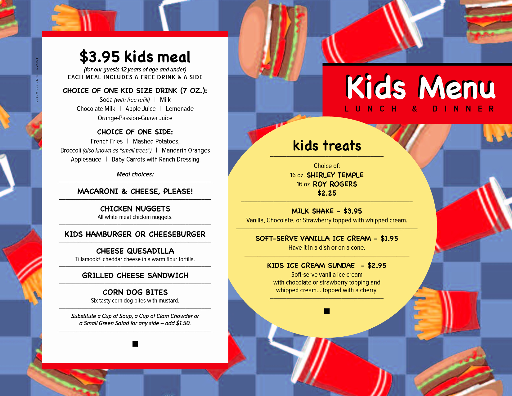 Free Kids Menu Template Elegant Free Menu Templates Kids Menu Kids Menu Menu